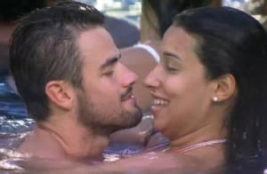 'BBB15': após chamego na piscina com Rafael, Talita nega beijo no estudante