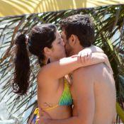 Samara Felippo beija o novo namorado, Elidio Sanna, em praia de Búzios, no Rio