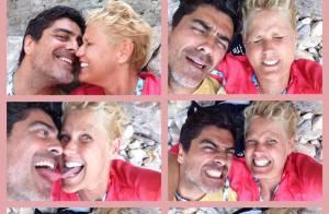 Xuxa posta foto em momentos divertidos com o namorado, Junno Andrade: 'Férias'