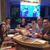 Anitta janta com Carla Perez e Xanddy antes de bloco na Bahia: 'Noite especial'