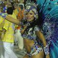 Raíssa Oliveira, rainha de bateria da Beija-Flor, usa fantasia com 30 mil cristais avaliada em R$ 45 mil
