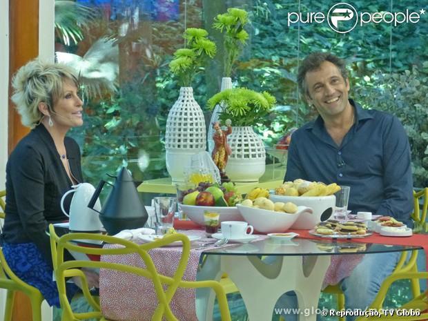 Domingos Montagner bate-papo com Ana Maria Braga no programa 'Mais Você', em 18 de abril de 2013