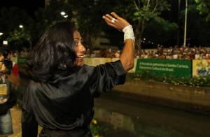 Gloria Maria se prepara para desfile das campeãs na Sapucaí