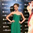 Jessica Alba divulgou o filme 'Quarteto Fantástico', em 2007, com o vestido da grife de Alexander McQueen