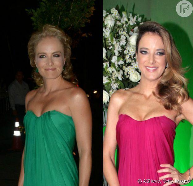 Vestido Alexander McQueen usado por Angélica no casamento de Fernanda Souza e Thiaguinho jé vestiu várias famosas