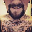 Ao publicar a foto da tatuagem, Bejin Madden escreveu que era um homem de sorte: 'Pensando em você'