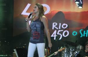 Grávida, Fernanda Gentil apresenta show em homenagem aos 450 anos do Rio