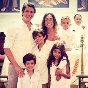 Márcio Garcia batiza o filho caçula, João, em igreja do Rio: 'Dia mágico'