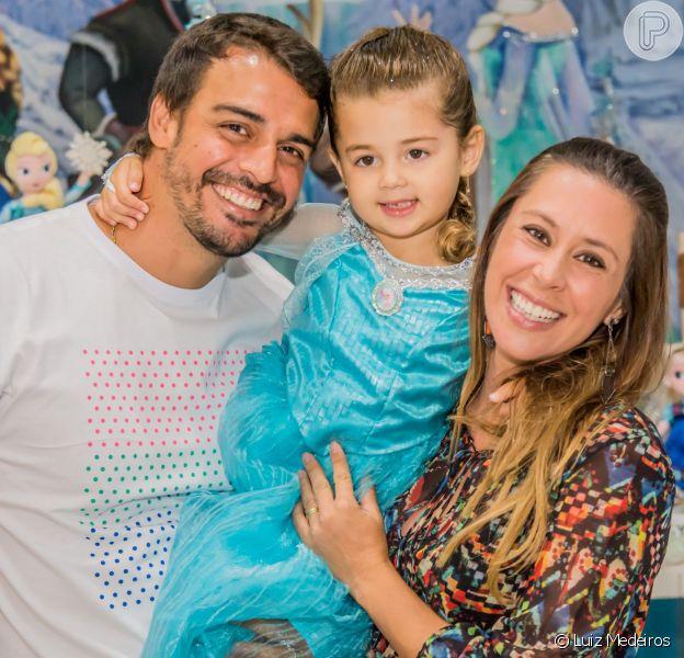 Dani Monteiro comemorou o aniversário de 4 anos de sua primeira filha no último final de semana, na casa de festas Folia Encantada, na Barra da Tijuca, Zona Oeste do Rio
