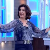 Fátima Bernardes se remexe ao fazer a dança do ventre no 'Encontro': 'Cansada'