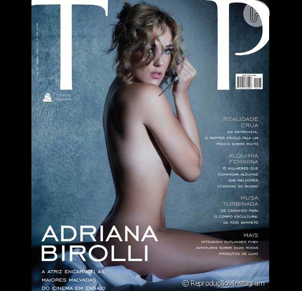 Adriana Birolli posa nua para capa da revista 'TOP Magazine' e recebe elogios de fãs no Instagram: 'Gostosa', escreveu um admirador neste sábado, 14 de março de 2015
