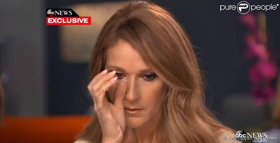 Céline Dion chora ao falar da batalha do marido, René Angélil, contra o câncer: 'Tenho que alimentá-lo'
