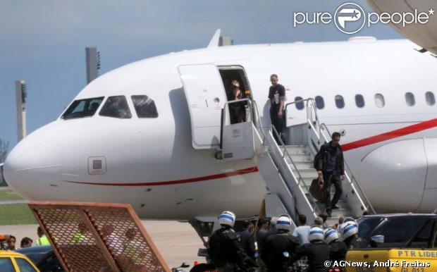Madonna desembarca no Rio de Janeiro, em 30 de novembro de 2012