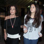 Betty Faria e Renata Sorrah vão à missa de sétimo dia de Claudio Marzo, no Rio