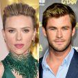 Os atores Scarlett Johansson e Chris Hemsworth, do elenco de 'Os Vingadores', ficaram em segundo lugar