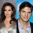 Os belos rostos de Angelina Jolie e Ashton Kutcher lhes garantiram lugar na sétima posição