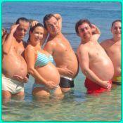 Guilhermina Guinle, grávida de uma menina, exibe barrigão na praia com amigos