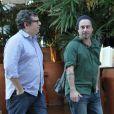 Alexandre Nero almoça com autor e diretora da novela 'Favela Chique' no Rio, nesta quinta-feira, 9 de abril de 2015