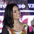 Isis Valverde marcou presença na coletiva de imprensa e première do filme 'Faroeste Caboclo'