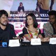 René Sampaio, Isis Valverde e Fabrício Boliveira participam da coletiva de imprensa e première do filme 'Faroeste Caboclo'