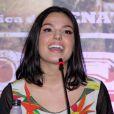 Isis Valverde fala durante a coletiva de imprensa e première do filme 'Faroeste Caboclo'