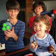 Henri Castelli costuma compartilhar fotos de seus filhos em sua conta no Instagram