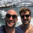 Paulo Gustavo e Thales Bretas em viagem a Austrália