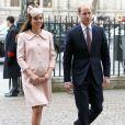 O casal real, que está à espera do nascimento de seu segundo filho, esteve no Commonwealth Day, na Abadia de Westminster, em março de 2015