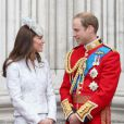 Kate Middleton e o príncipe William foram juntos à cerimônia Trooping The Colours, na Inglaterra, em junho de 2014