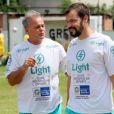 Kadu Moliterno conversa com o colega Heitor Martinez