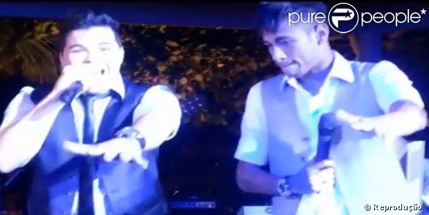 Neymar solta a voz no casamento de Ganso