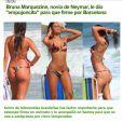 A imprensa espanhola tem divulgado fotos de biquíni de Bruna Marquezine para apresentar a namorada de Neymar, novo jogador do Barcelona