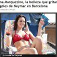 Bruna Marquezine também foi destaque no site peruano 'RPP': 'A beleza que gritará pelos gols de Neymar em Barcelona'