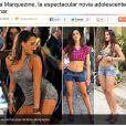 Bruna Marquezine é retratada pelo site espanhol 'Antena' como a 'espetacular namorada adolescente' de Neymar, novo jogador do Barça