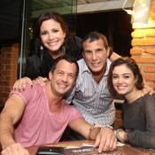 Juliana Knust comemora aniversário com Sophie Charlotte e Malvino Salvador