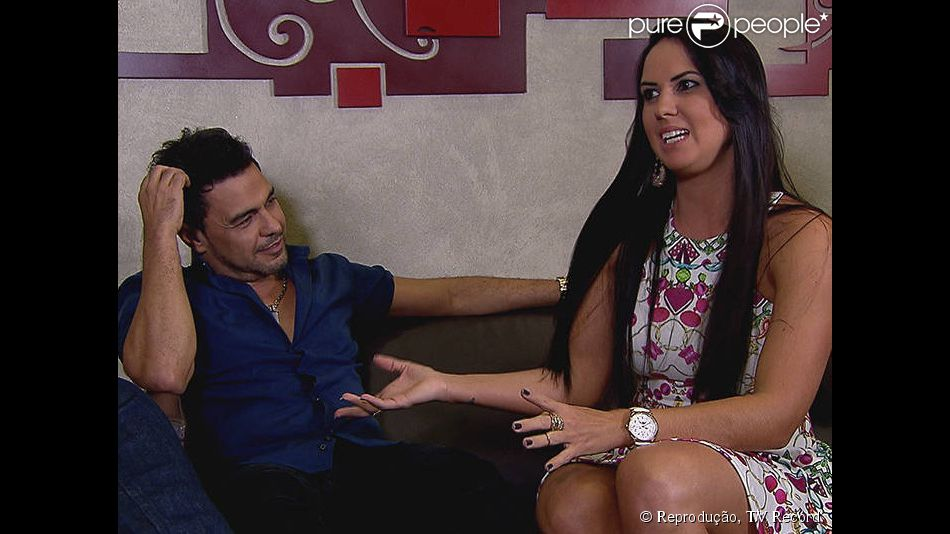 Graciele Lacerda e Zezé Di Camargo contaram no programa 'A Hora do Faro' deste domingo, 17 de maio de 2015, quando foi o primeiro 'eu te amo' dito pelo cantor