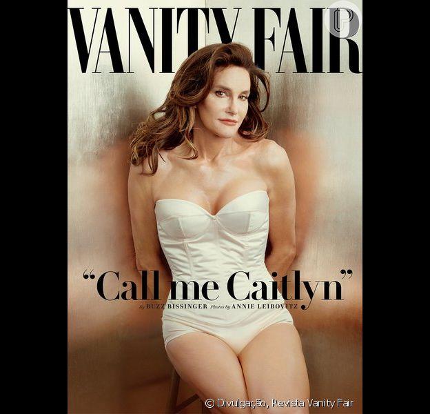 Bruce Jenner aparece como mulher na capa da revista 'Vanity Fair' e diz: 'Me chama de Caitlyn'