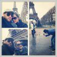 Daniel Alves publicou fotos de sua viagem com a namorada para Paris