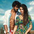 Bruna Marquezine e Marlon Teixeira fotografaram em clima de descontração na praia