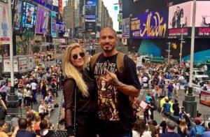 Aline e Fernando, do 'BBB 15', viajam para Nova York: 'Quero curtir com ela'