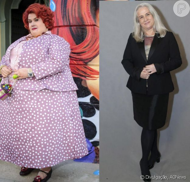 Dona Redonda se despede do remake 'Saramandaia' depois de explodir de tão gorda! Vera Holtz costumava levar 4 horas para se caracterizar como a personagem e aparentar 250Kg