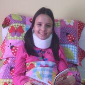Larissa Manoela usa colar cervical após acidente: 'Meu pescoço ainda dói'