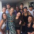 Neymar foi depois para um festa na casa de Thiaguinho e Fernanda Souza, onde se encontrou com Angélica e Luciano Huck