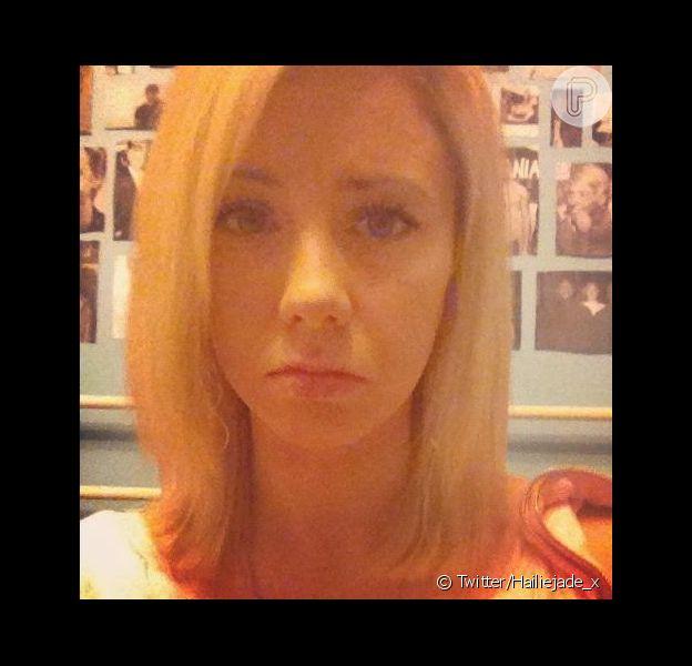 Hailie Scott Mathers, filha do rapper Eminem, posta foto de seu rosto no Twitter, em 10 de novembro de 2012