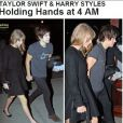 Taylor Swift e Harry Styles caminham de mãos dadas em NY, em flagra reproduzido do site americano 'TMZ' em 4 de dezembro de 2012