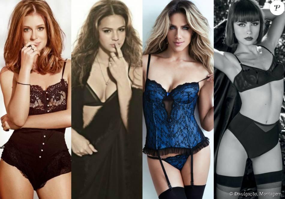 1118ce941 Inspire-se nos modelitos sensuais usados pelas famosas e inspire-se para o  Lingerie. 53 fotos