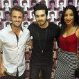 Os ex BBB's Rafael Licks e Talita Araujo não perderam a oportunidade de posar para uma foto com Luan Santana
