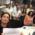 Toda a equipe do 'Jornal Nacional' participou do vídeo publicado nesta sexta-feira, 3 de julho de 2015, na página do JN, em defesa de Maria Júlia Coutinho