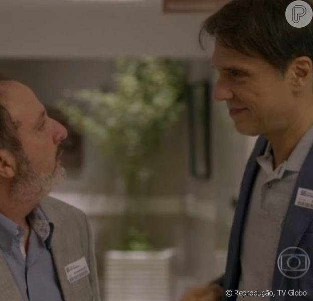 Eriberto (Fabio Herford) e Renan (Fernando Eiras) iniciam romance no final da novela 'Sete Vidas', em 10 de julho de 2015