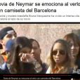 Bruna Marquezine e Rafaella Beckran ficaram juntas durante toda apresentação de Neymar ao Barcelona